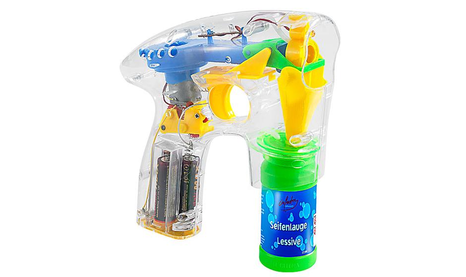 Seifenblasenpistole mit LED-Lichtern, 6,90 Euro Gesehen bei pearl.de