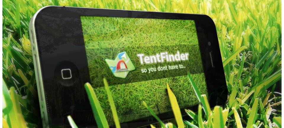 Zeltfinder als App: 'Tentfinder', 0,69 Euro Erhältlich im App-Store via iTunes