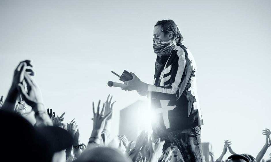 Arcade Fire, hier bei ihrem Auftritt auf dem Northside Festival 2014.