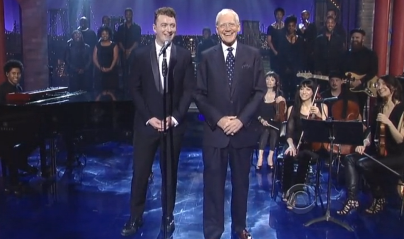 'That was wonderful!' - Sam Smith und David Letterman