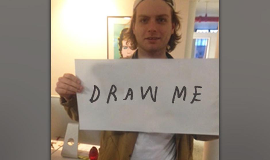 Mac De Marco ruft die Fans auf ein Porträt von ihm zu zeichnen.
