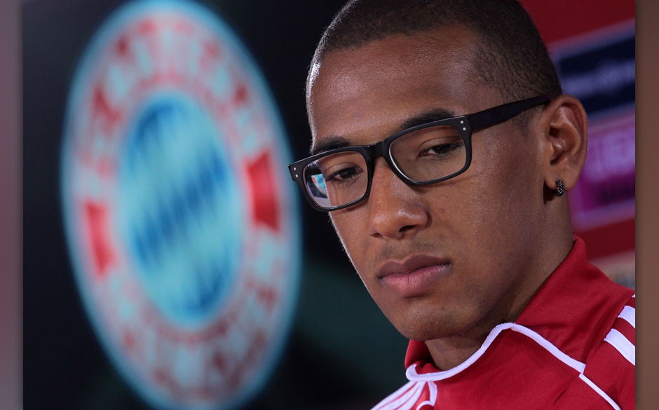 MUNICH, GERMANY - JULY 17:  New recruit of FC Bayern Muenchen Jerome Boateng  addresses the media during a press conference a
