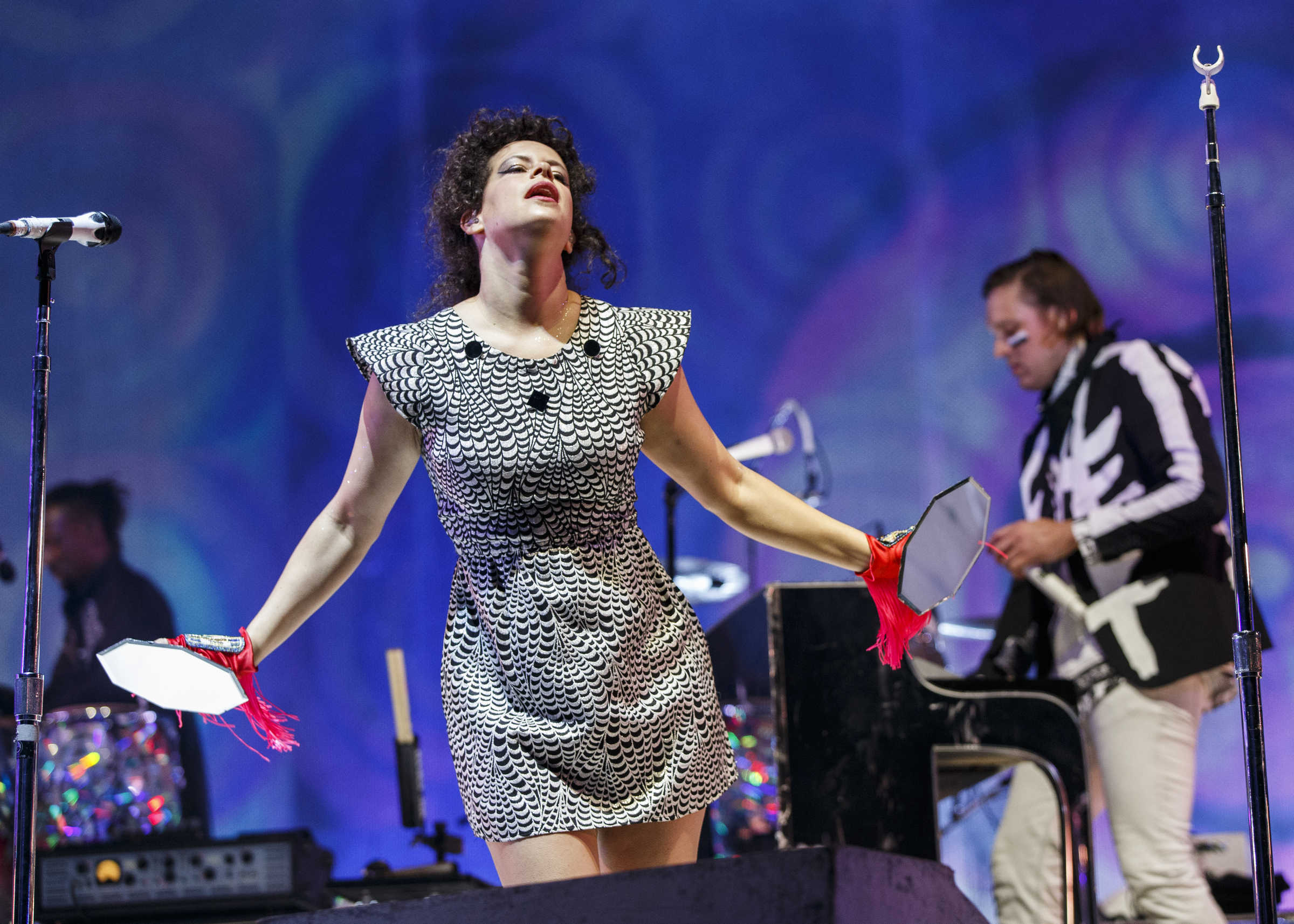 SQUAMISH, BC - AUGUST 09:  Singer Regine Chassagne of Arcade Fire performs on stage during Day 2 of Squamish Valley Music Fes