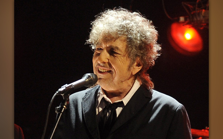 FILE - In this Jan. 12, 2012 file photo, Bob Dylan performs in Los Angeles. One of the most popular songs of all time, Dylan'