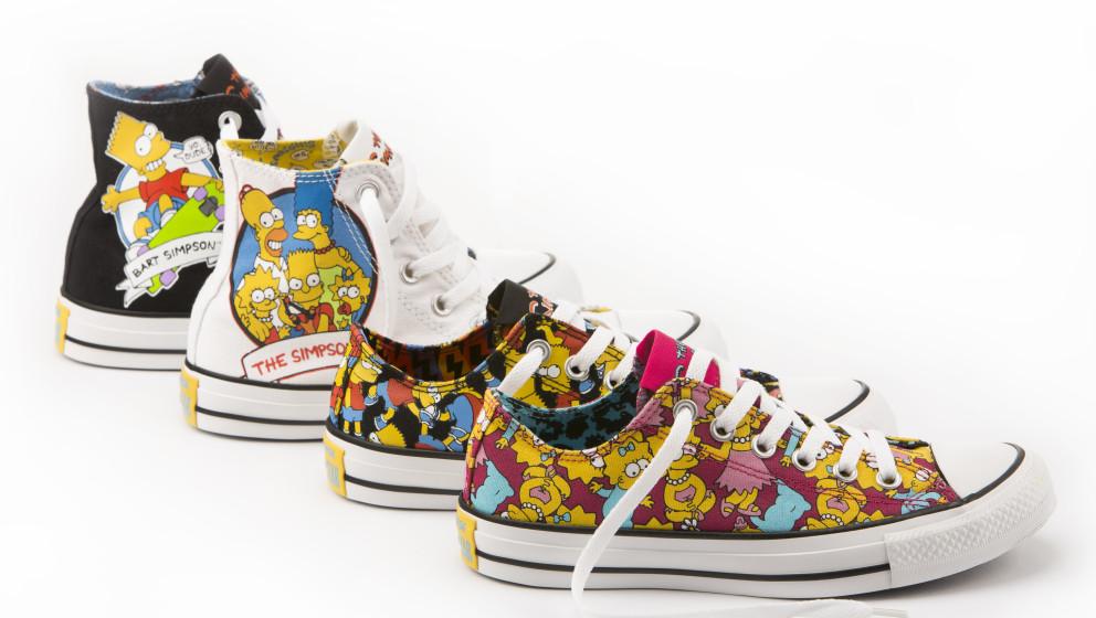 Gruppenbild mit Schuh: Die kultige Familie Simpson bekommt eine eigene Sneaker-Kollektion.