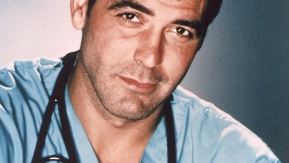 Emergency Room - Die Notaufnahme (ER, TV-Serie, USA 1994-2009) George Clooney  / tv series, 'E.R.', Arzt, Stethoskop, Portrai