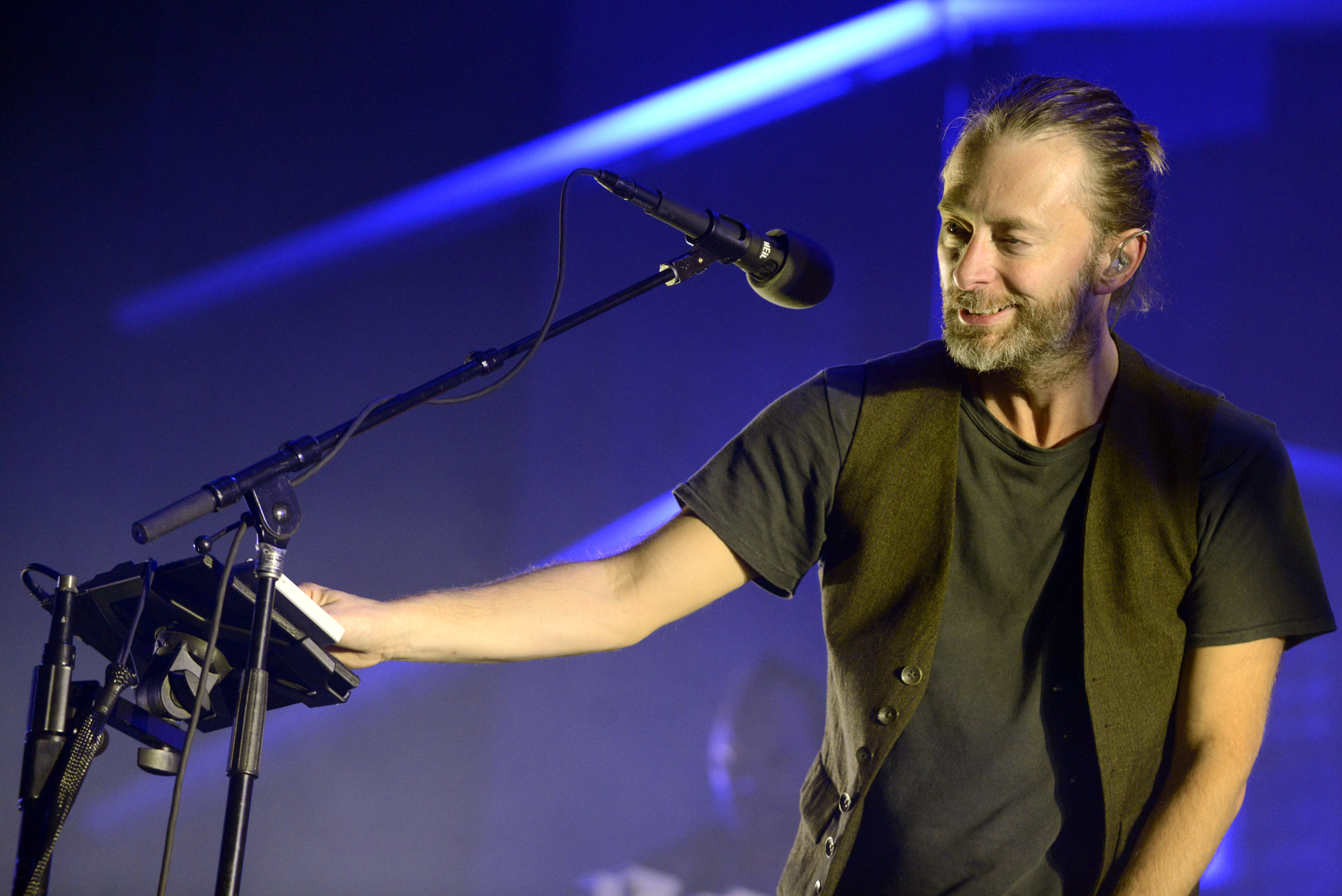 AUSTIN, TX - OCTOBER 6: Thom Yorke of Atoms for Peace performs as part of the Austin City Limits Music Festival Day Three at