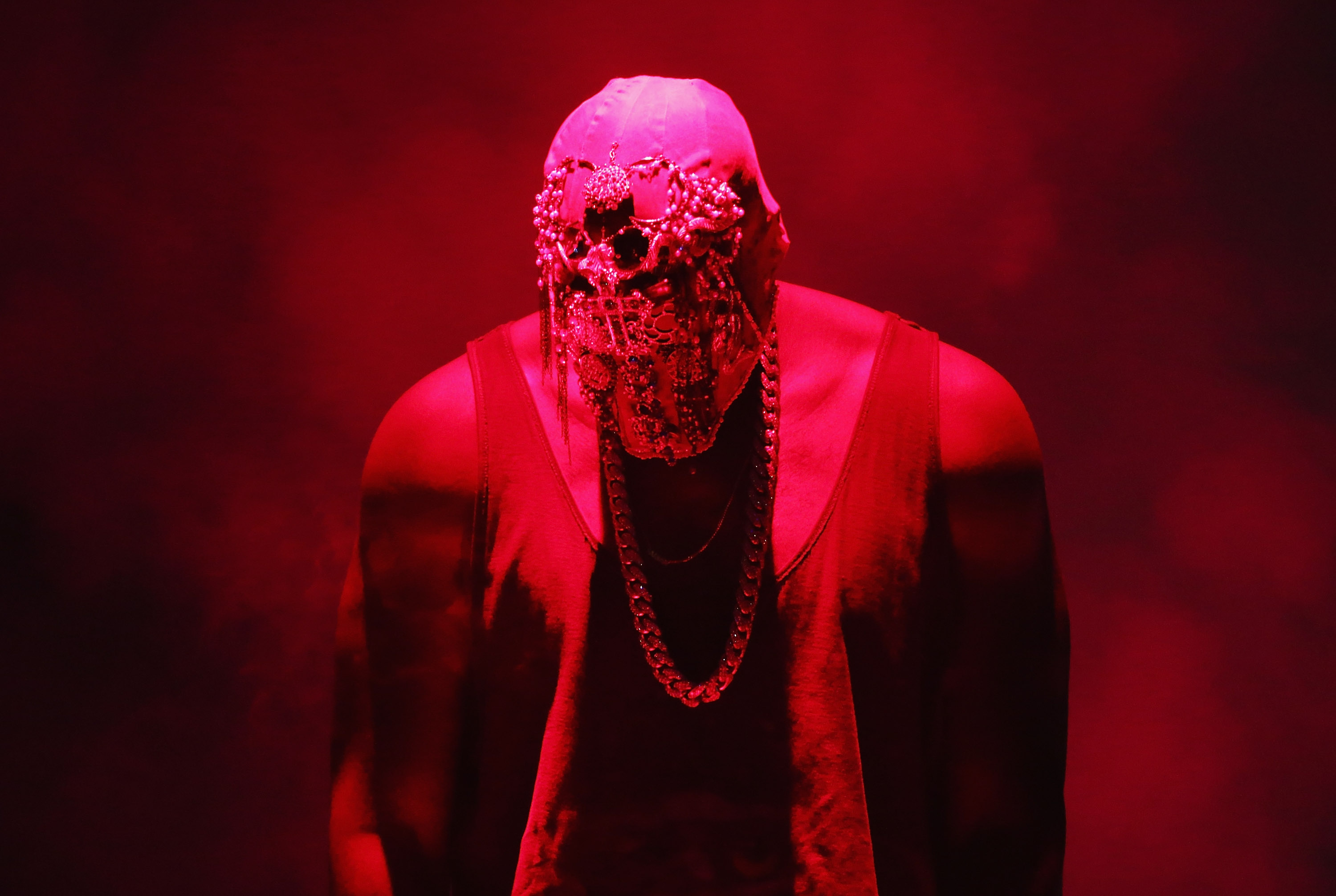 SYDNEY, AUSTRALIA - SEPTEMBER 12:  Kanye West performs live for fans at Qantas Credit Union Arena on September 12, 2014 in Sy