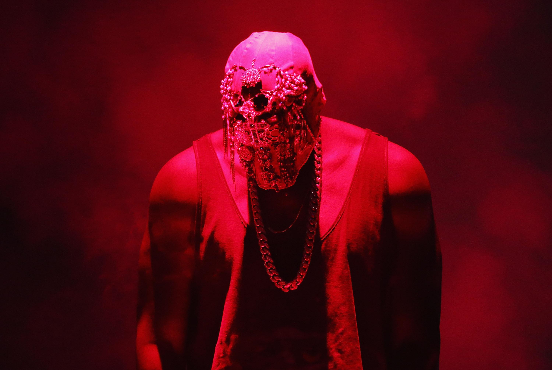 SYDNEY, AUSTRALIA - SEPTEMBER 12:  Kanye West performs live for fans at Qantas Credit Union Arena on September 12, 2014 in Sy