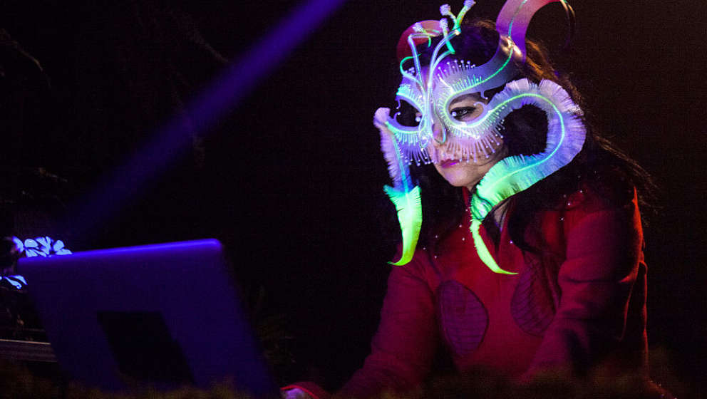 MONTREAL, QC - OCTOBER 26: Bjork performs a DJ set during Bjork Digital Exhibition at Cirque Eloize on October 26, 2016 in Montreal, Canada. (Photo by Santiago Felipe/Getty Images)