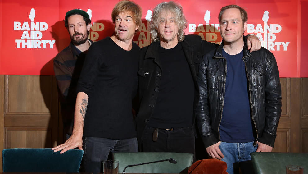 BERLIN, GERMANY - NOVEMBER 13: (L to R) German Singer Max Herre, German Singer Campino, Irish Singer Bob Geldof and German Si