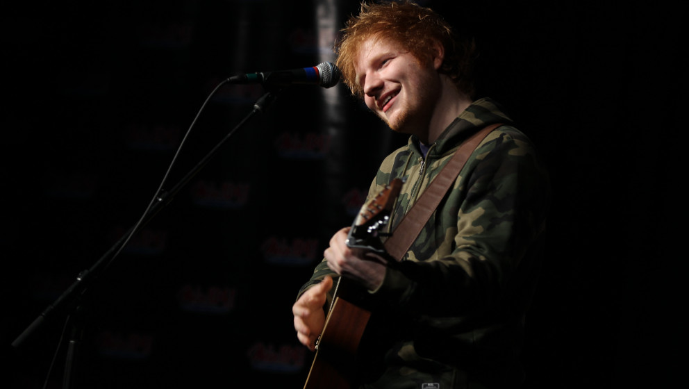 HINGHAM, MA - JANUARY 30: Singer songwriter Ed Sheeran performs some of his hit singles at the Mix 104.1 Koats for Kids Conce