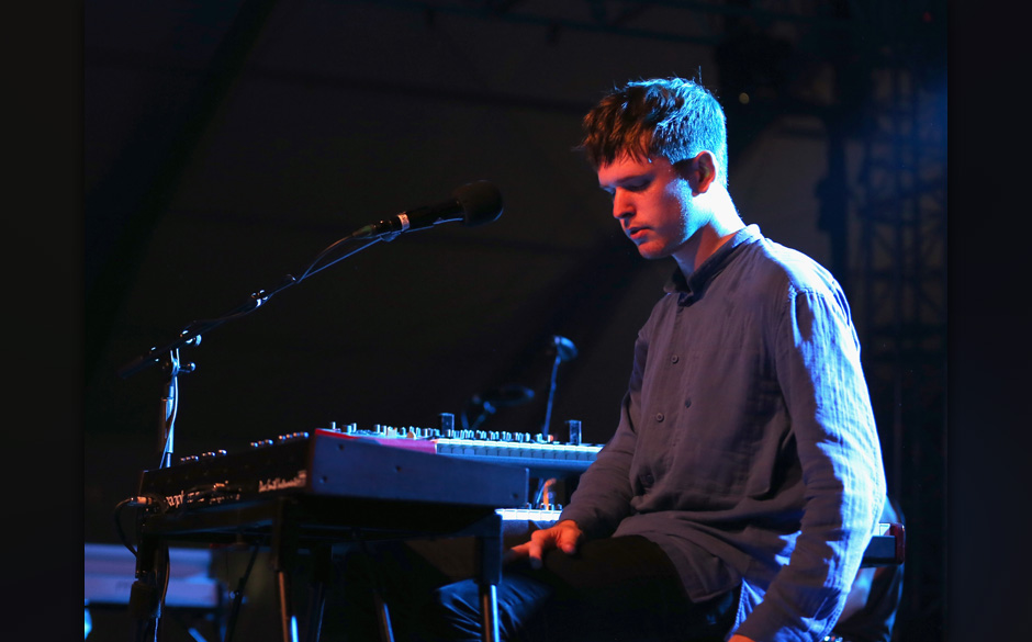 MANCHESTER, TN - JUNE 14:  Musician James Blake performs onstage at That Tent during day 3 of the 2014 Bonnaroo Arts And Musi