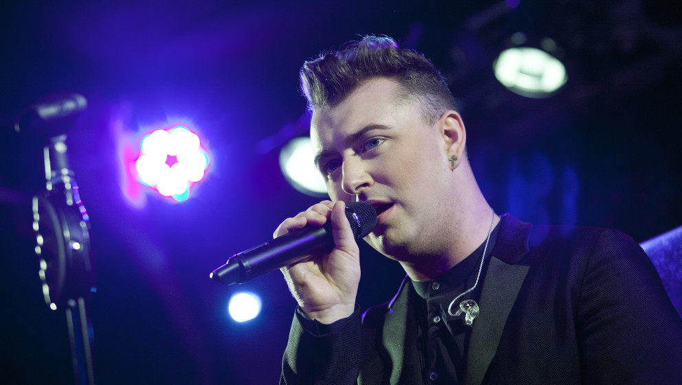 BERLIN, GERMANY - MARCH 07: British singer Sam Smith performs live during a concert at the Frannz on March 7, 2014 in Berlin,