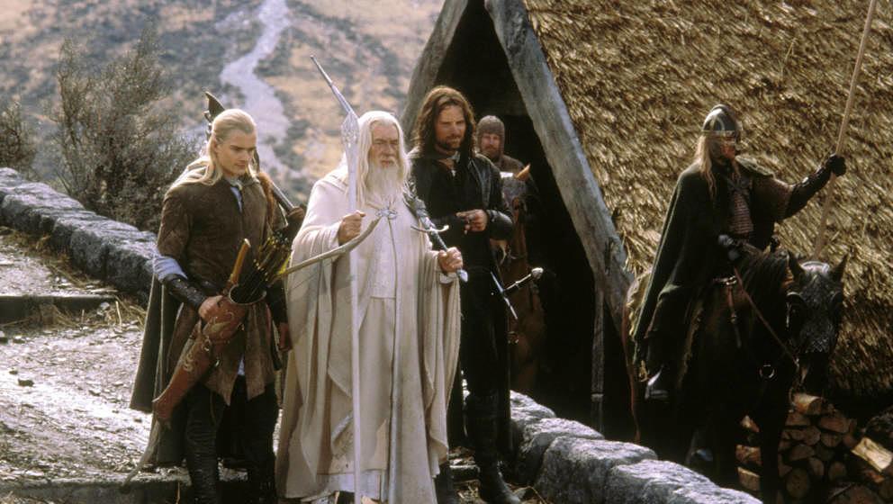 Legolas (ORLANDO BLOOM), Gandalf (IAN MCKELLEN) und Aragorn (VIGGO MORTENSEN) #