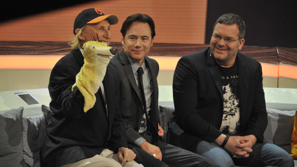 Otto Waalkes mit Handpuppe Sid Sidney Faultier  Michael Bully Herbig Elton  zu Gast in der letzten , der 215 ZDF Unterhaltung