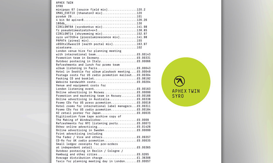 19. Aphex Twin - SYRO
