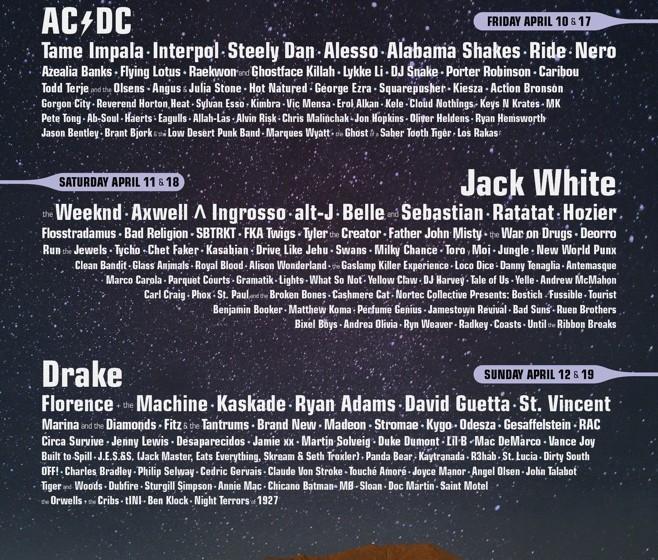 Das vollständige Line-Up des Coachella 2015