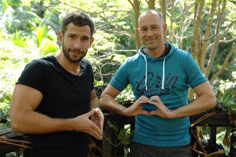 Wollen doch nur spielen: Dschungelcamp-Autoren Micky Beisenherz und Jens-Oliver Haas, so herzlich wie in ihren Moderationstex