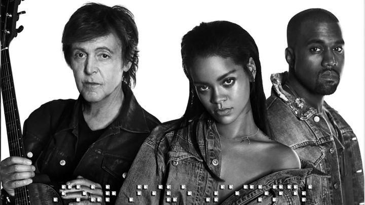 """Rihanna, Paul McCartney und Kanye West zeigen gemeinsames Video zu """"FourFiveSeconds"""""""