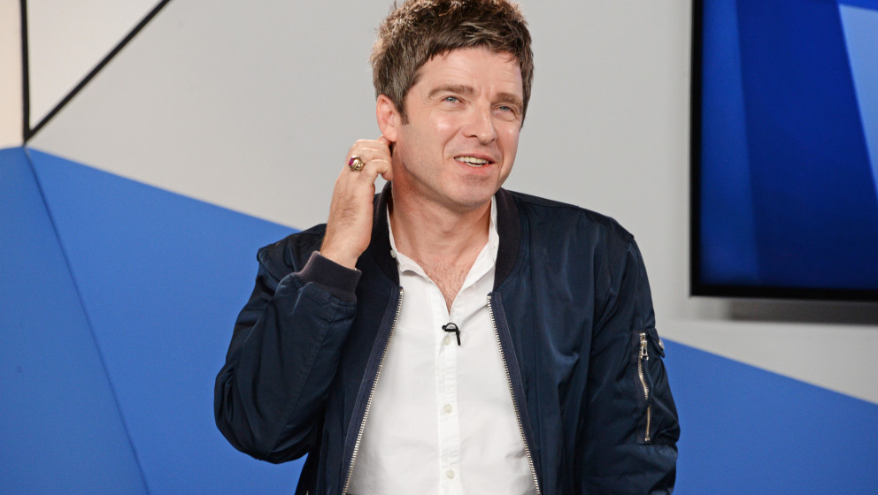 LONDON, ENGLAND - OCTOBER 13:  Noel Gallagher talks to Matt Everitt about his forthcoming album, 'Chasing Yesterday' which is