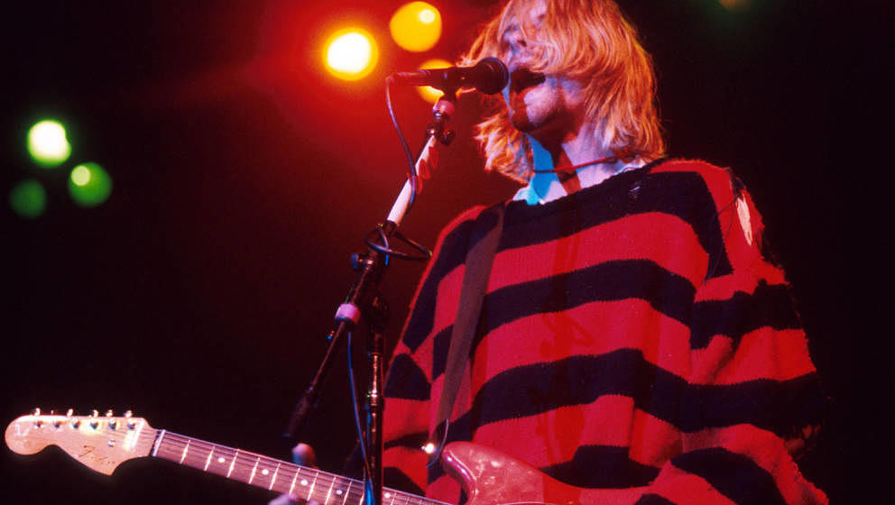(NO TABLOIDS)    Kurt Cobain of Nirvana during Nirvana in New York, New York.  (Photo by Kevin Mazur/WireImage)