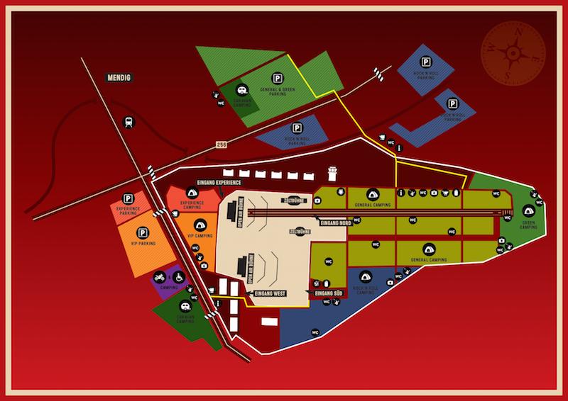 Geländeplan: So soll Rock am Ring 2015 aussehen