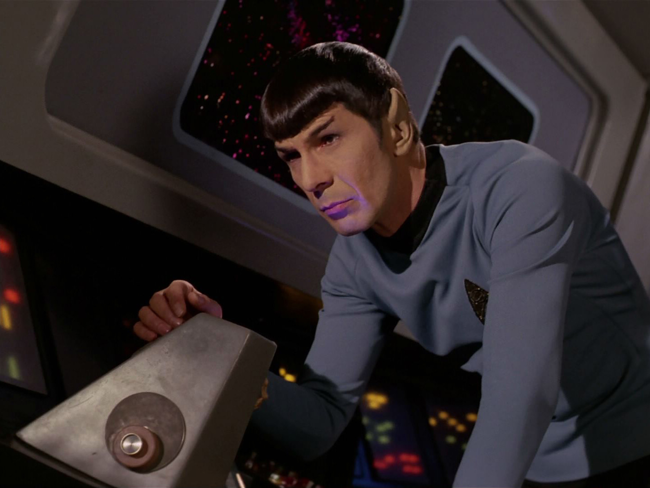 LOS ANGELES - FEBRUARY 28: Leonard Nimoy as Mr. Spock in the STAR TREK: THE ORIGINAL SERIES episode, 'The Cloud Minders.'  Se