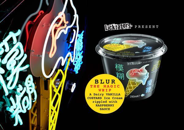 Blurs eigene Eiscreme-Kreation, benannt nach ihrem aktuellen Album THE MAGIC WHIP