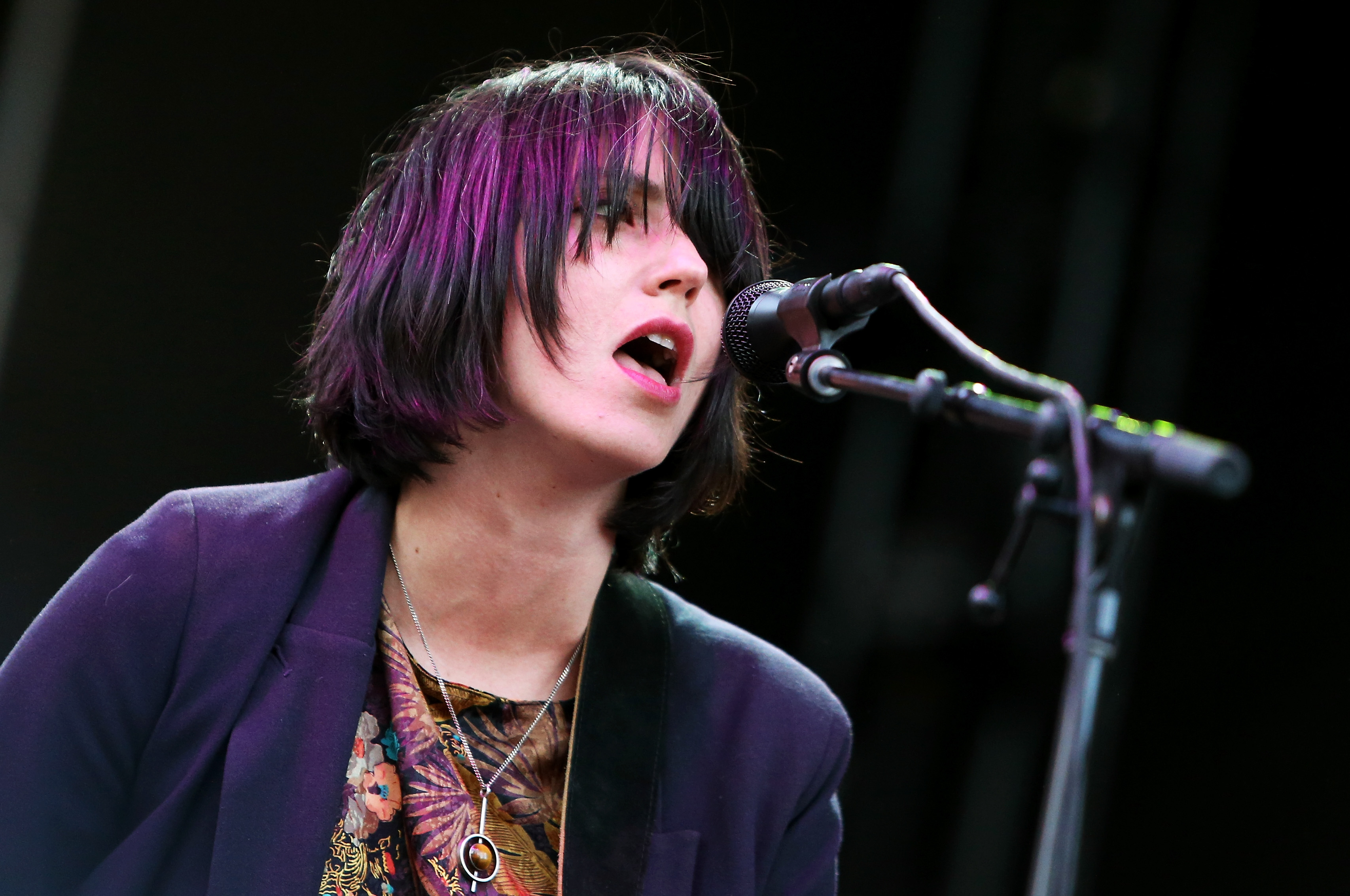 BOSTON, MA - MAY 22:  Musician Sharon Van Etten performs onstage during Boston Calling Music Festival Day 1 at Boston City Ha