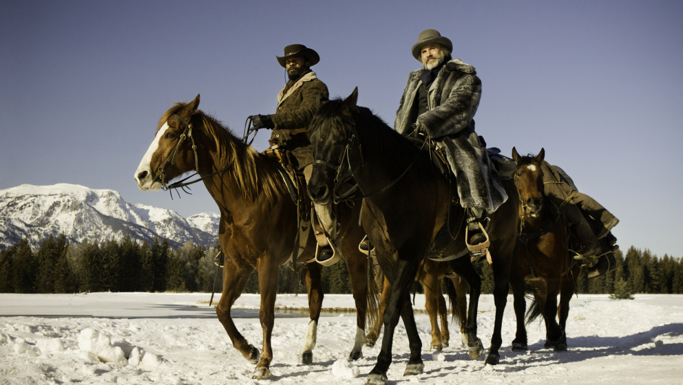 (L-R) JAMIE FOXX and CHRISTOPH WALTZ star in DJANGO UNCHAINED