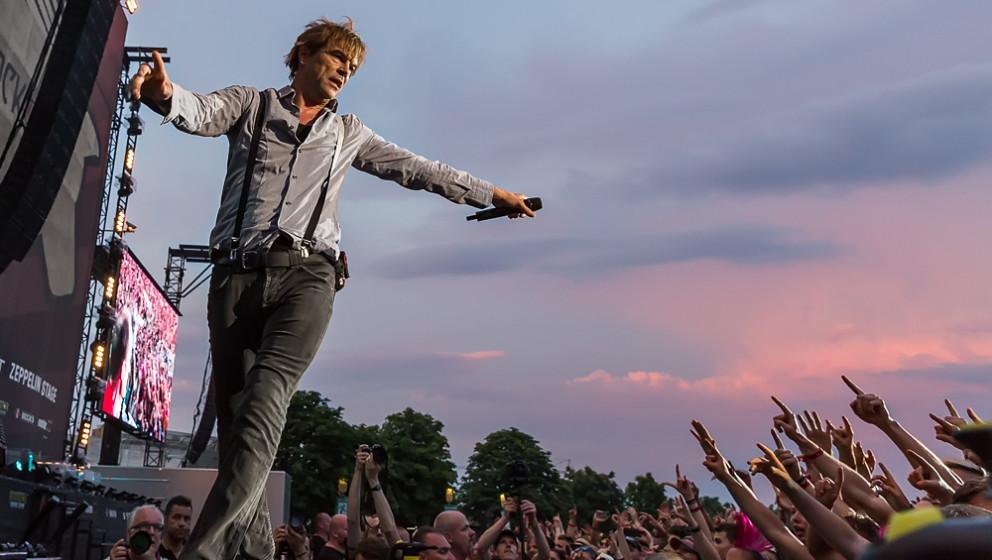 """Die Toten Hosen, hier live bei """"Rock im Park"""" 2015"""