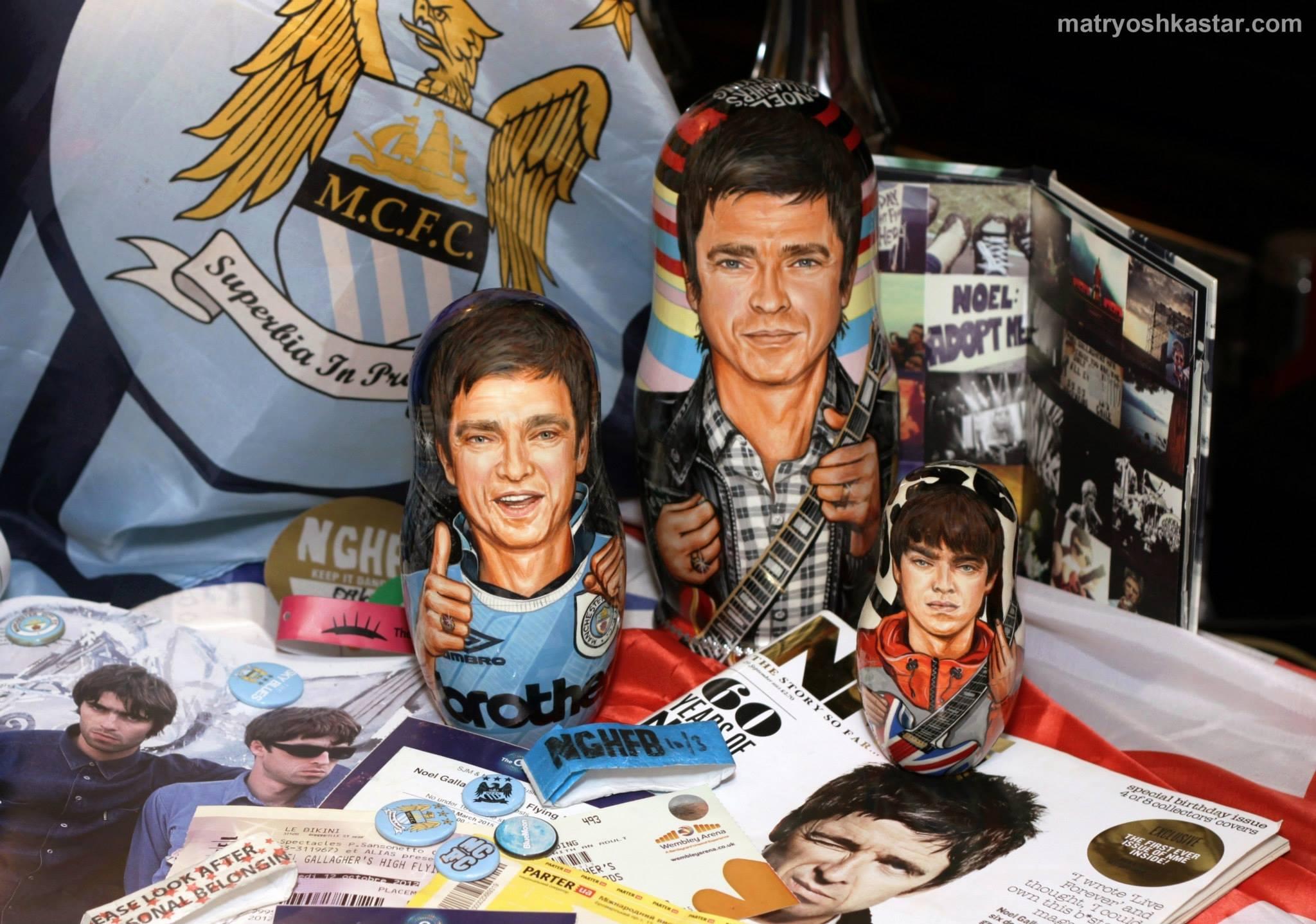 Russische Matroschka-Puppen für Noel Gallagher