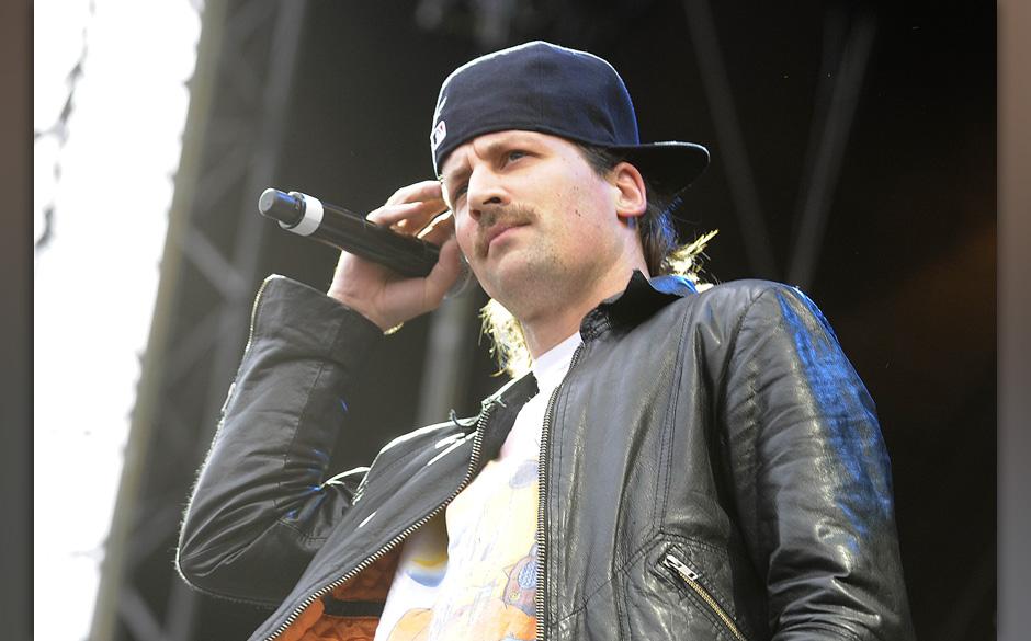 Dendemann, buergerlich Daniel Ebel - der deutsche Musiker bei einem Konzert auf der openair-Buehne an der Trabrennbahn/TrabAr