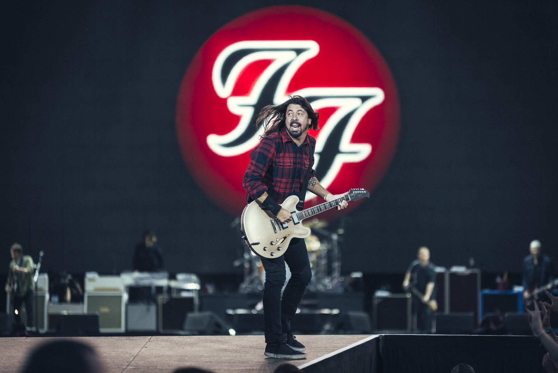 """Dave Grohl rannte bei """"Rock am Ring"""" Anfang Juni noch munter über die Bühne"""