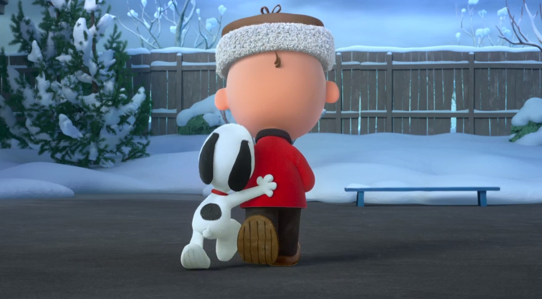 Snoopy und Charlie Brown als animierte Figuren...