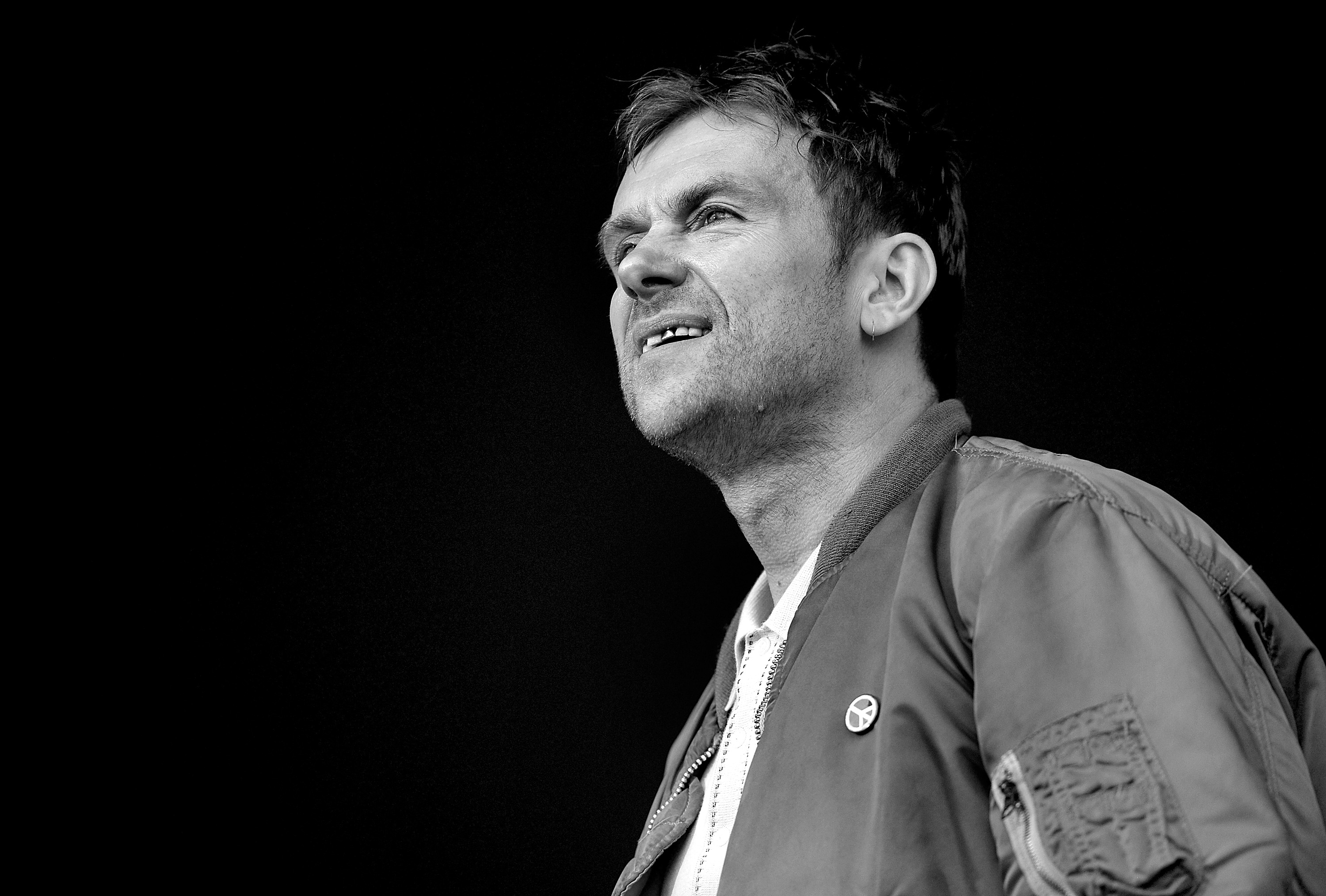 LONDON, ENGLAND - JUNE 20:  SUN NEWSPAPER OUT. MANDATORY CREDIT PHOTO BY DAVE J. HOGAN GETTY IMAGES REQUIRED  Damon Albarn of