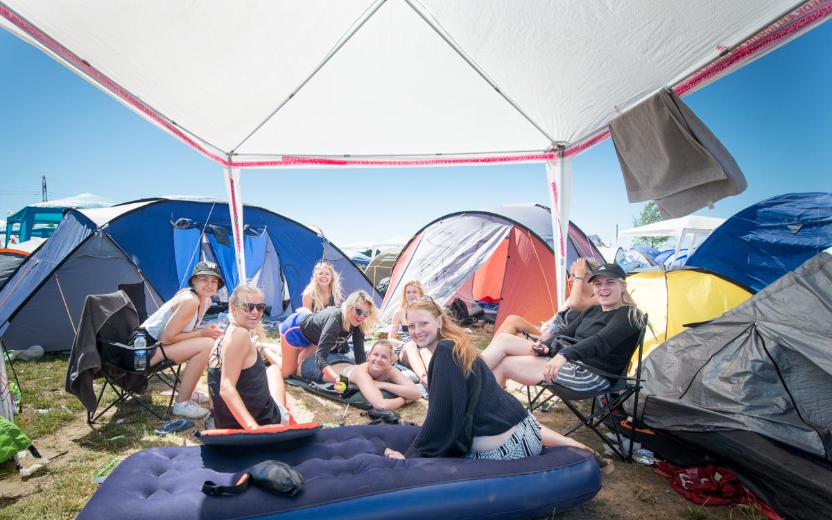 So war's beim Roskilde 2015: bestes Festivalwetter...