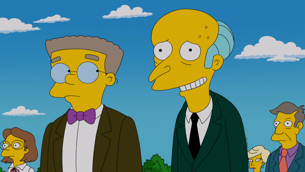 THE SIMPSONS: Mr. Burns recalls a a romance with a beautiful Parisian woman in the 'Four Regrettings and a Funeral' episode o