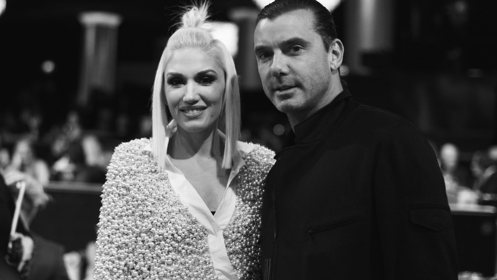 BEVERLY HILLS, CA - DECEMBER 18:  (EDITORS NOTE: Image shot on black and white. Color version not available.)  Singer Gwen St