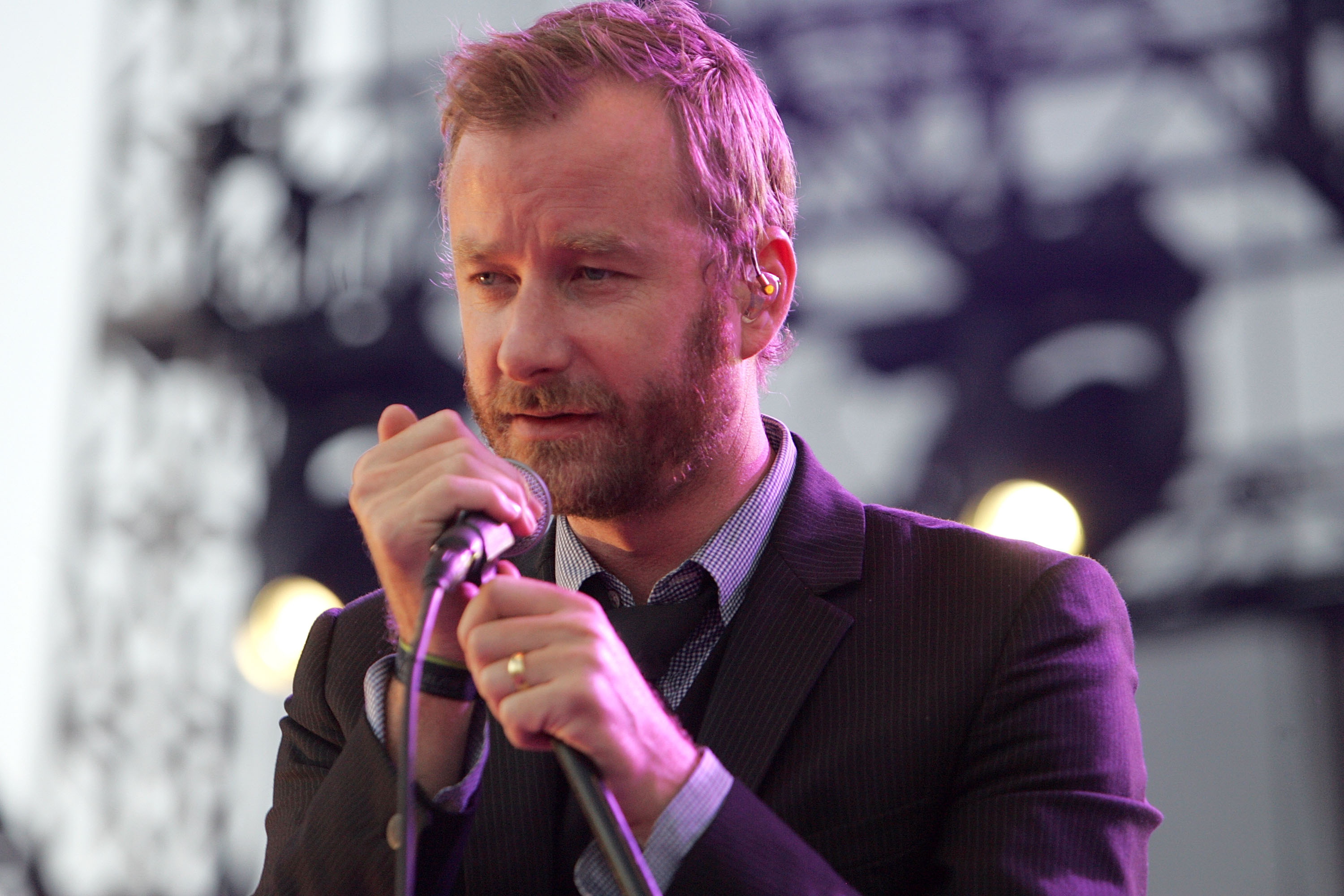 AUSTIN, TX - OCTOBER 10:  Vocalist Matt Beringer of The National performs in concert during day 3 of the Austin City Limits M