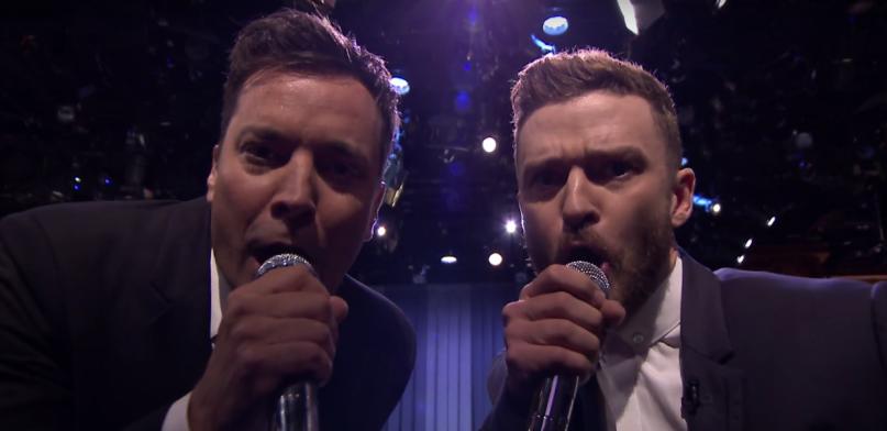"""Jimmy Fallon und Justin Timberlake treffen sich ab und an in der Sendung """"The Tonight Show"""" um gemeinsam Rap-Klassiker zu"""