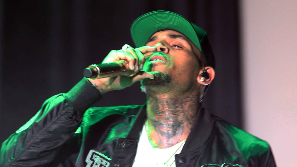 Chris Brown performs during the One Hell of a Nite Tour 2015 at Aaron's Amphitheatre at Lakewood on Saturday, September 5, 20