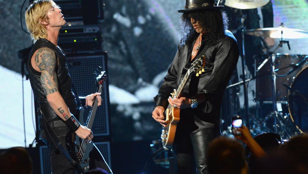 Traten in den vergangenen Jahren immer wieder mal gemeinsam auf: Duff McKagan und Slash, Gründungsmitglieder von Guns N'Roses