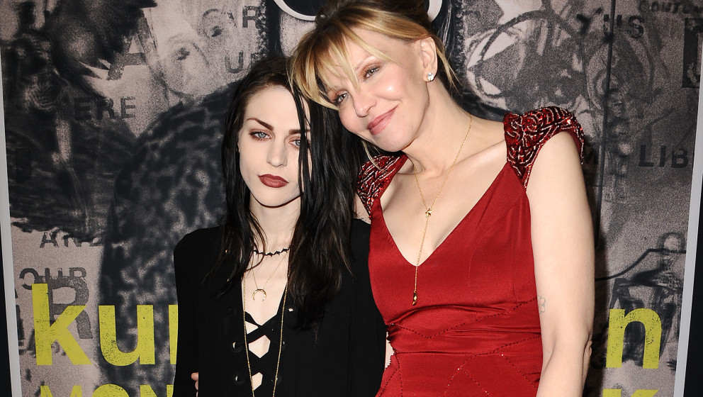 HOLLYWOOD, CA - APRIL 21:  Frances Bean Cobain and Courtney Love attend the premiere of HBO Documentary Films' 'Kurt Cobain: