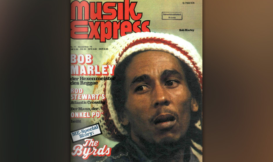 Der Rastafari-Hexenmeister vom Dienst: Bob Marley auf dem Cover des Musikexpress im November 1975