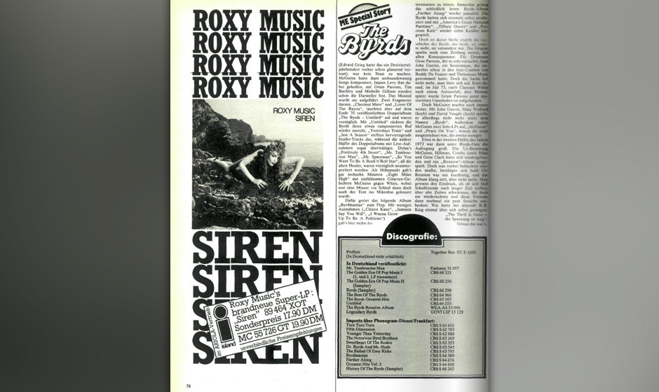 Musikexpress vom November 1975