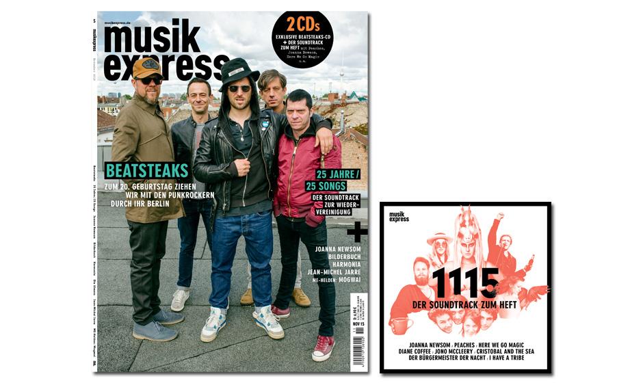 Der neue Musikexpress - vom 15. Oktober 2015 an erhältlich.
