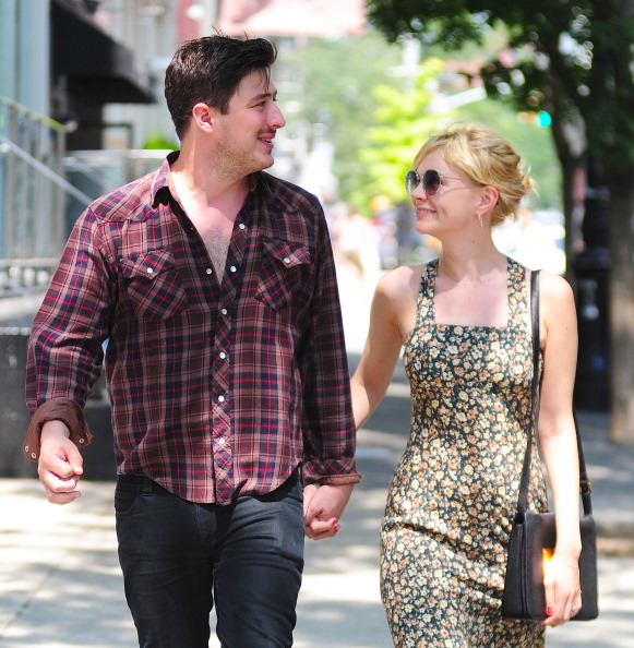 NEW YORK, NY - AUGUST 02: Marcus Mumford and Carey Mulligan are seen in SoHo on August 2, 2012 in New York City. (Photo by Al