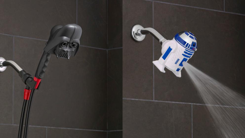Darth Vader & R2-D2 beobachten euch beim Duschen.